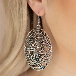 """NWT """"Way Out of Line"""" earrings"""
